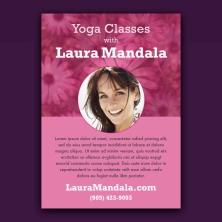 Pink daisy yoga design