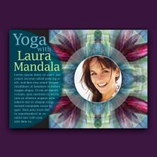 mandala yoga design promo card serif font