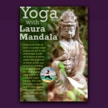 goddess 1 yoga promo cards design