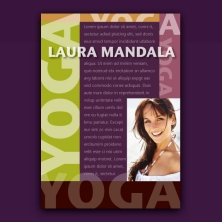 jazzy yoga design promo card