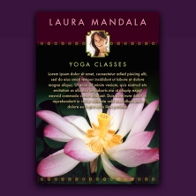 lotus yoga design promo card