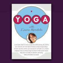 Retro yoga promo card